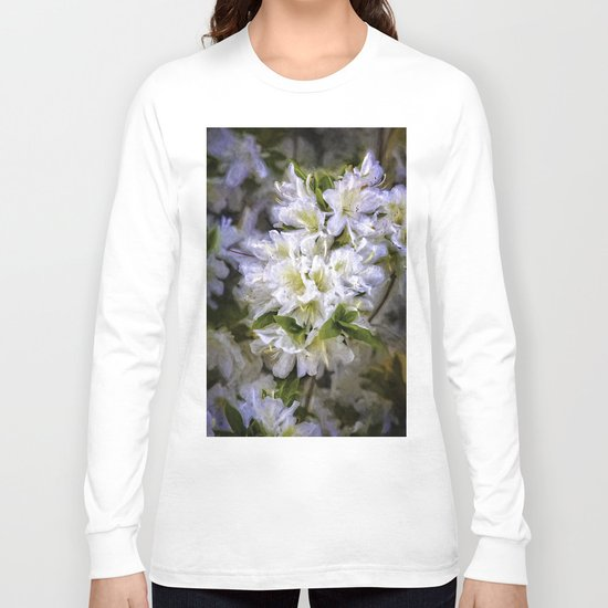 White Rhododendron Long Sleeve T-shirt