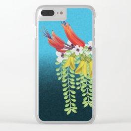 Flax, Kowhai and Manuka Flowers Clear iPhone Case