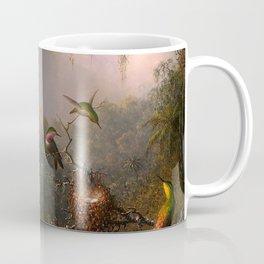 CATTLEYA ORCHID AND THREE BRAZILIAN HUMMINGBIRDS - MARTIN JOHNSON HEADE Coffee Mug