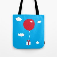 animal crossing Tote Bags featuring Animal Crossing The Gift by mimibun