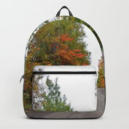 Forest Road in the Fall Backpack