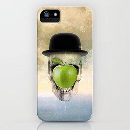 Magritte Skull iPhone Case