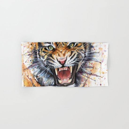 Tiger Watercolor Wild Animal Jungle Animals Hand & Bath Towel