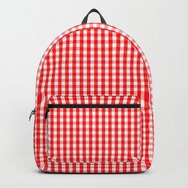 Mini Australian Flag Red Gingham Check Plaid Backpack