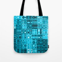 blueprint Tote Bags featuring Blueprint by Alice Gosling