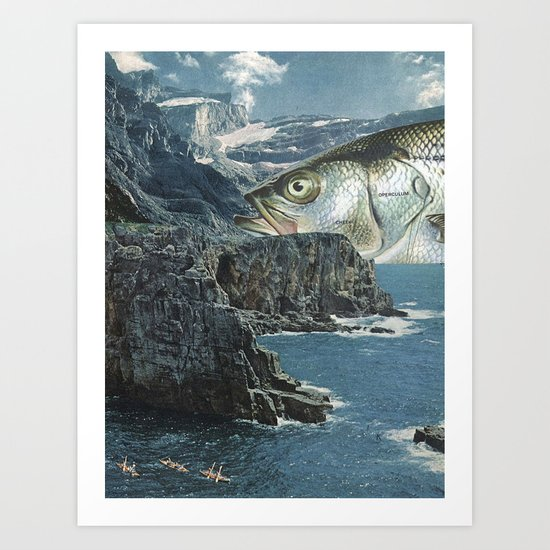 fish out of water Art Print