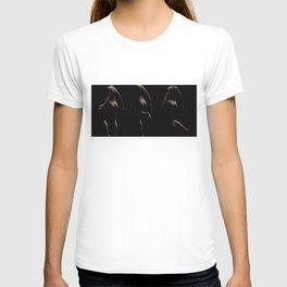Three Curvy Females Backs With Low Key Lighting T-shirt