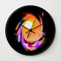 sunrise Wall Clocks featuring Sunrise by Walter Zettl