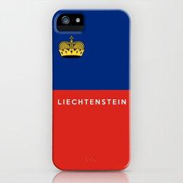 Liechtenstein country flag name text iPhone Case