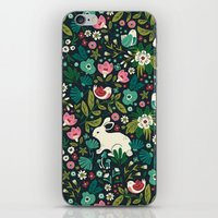 forest iPhone & iPod Skins featuring Forest Friends by Anna Deegan