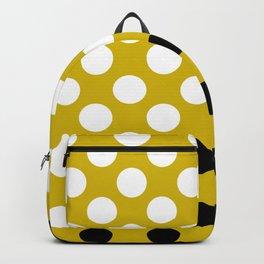 White and Black Polka Dots Backpack