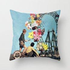 Bloomed Joyride Throw Pillow