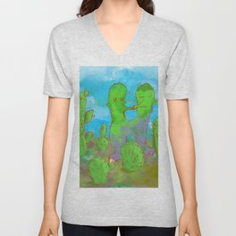 Kissing Cactus Unisex V-Neck