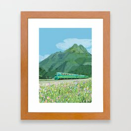 Spring train Framed Art Print