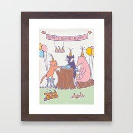 Birthday Tea Party Framed Art Print