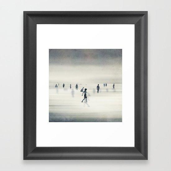 floating on light Framed Art Print