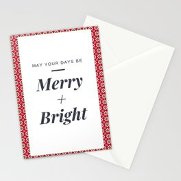 Christmas Greeting Card - Merry & Bright - Holiday Card - Greeting Card Stationery Cards