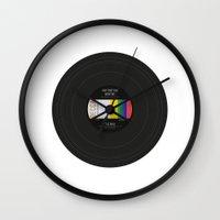 vinyl Wall Clocks featuring Vinyl by Long Weekend