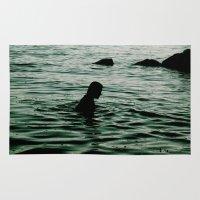 siren Area & Throw Rugs featuring SIREN by Taryn Jayne