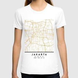JAKARTA INDONESIA CITY STREET MAP ART T-shirt