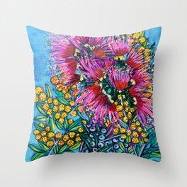 Australian Flora Throw Pillow