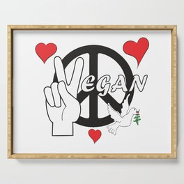 Vegan - Peace and Love Serving Tray