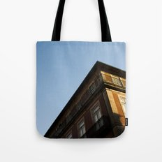 white line Tote Bag