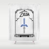 sword Shower Curtains featuring Zelda legend - Sword by Art & Be