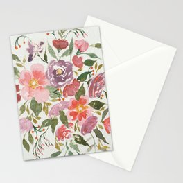 Loose Purple Bouquet Stationery Cards