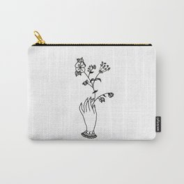 Victorian Hand Holding Wildflower Bouquet Design Carry-All Pouch