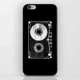 Black and White Retro 80's Cassette Vintage Eighties Technology Art Print Wall Decor from 1980's iPhone Skin