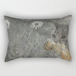 Cat work Rectangular Pillow
