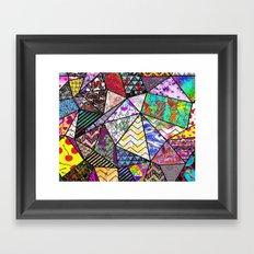 Triangler shaped mix up  Framed Art Print
