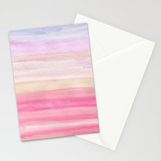 Pastel Watercolor Sunrise Stationery Cards