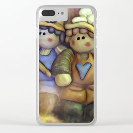 Friends On The Road Less Traveled Clear iPhone Case