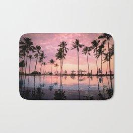 Pastel Sunset Palms Bath Mat