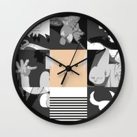 pablo picasso Wall Clocks featuring Pablo by Macu