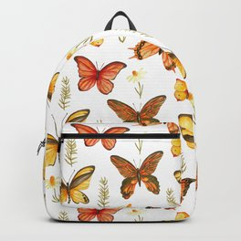 Butterfly Totem White Background Backpack