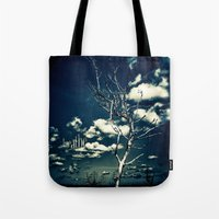breathe Tote Bags featuring BREATHE by Steffen Remter