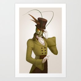 Monocle Mantis Art Print