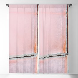 Pink Salt Lake from above in Italy – Landscape Photography Blackout Curtain