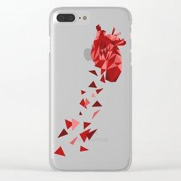 Heartfall Clear iPhone Case