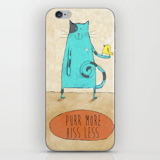 Purr More Hiss Less iPhone & iPod Skin