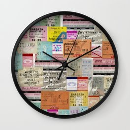 Movie Tickets Wall Clock