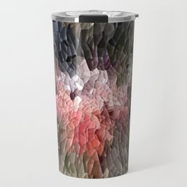 Abstract In Pink, Black And Green Travel Mug