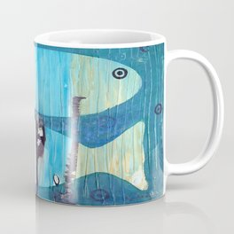 Who's looking? Blue version Coffee Mug