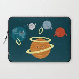 Saturn Ring Toss Laptop Sleeve