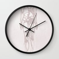 body Wall Clocks featuring Body by Isobel Rae