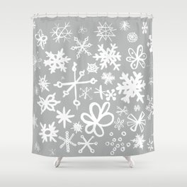 Snowflake Concrete Shower Curtain