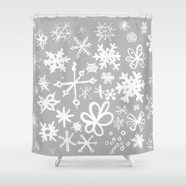 Snowflake Concrete Shower Curtain